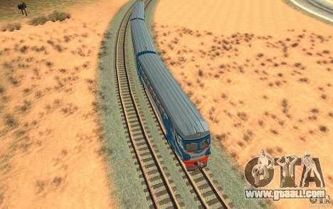 Train ER2-K-1321 for GTA San Andreas inner view