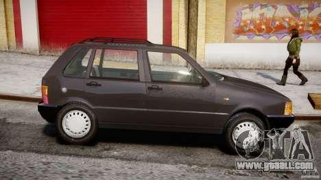 Fiat Uno 70SX 1989-1993 for GTA 4 left view