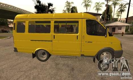 Gazelle 32213 Novosibirsk minibus for GTA San Andreas back left view