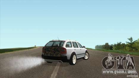 Skoda Octavia Scout for GTA San Andreas back left view