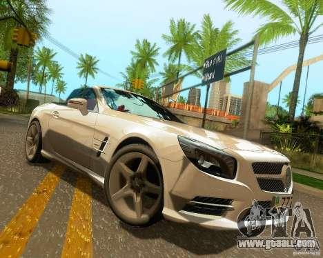 Mercedes-Benz SL350 2013 for GTA San Andreas wheels
