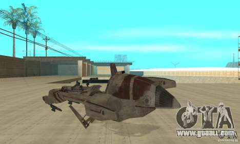 Star Wars speedbike for GTA San Andreas back left view