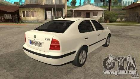 Skoda Octavia 1997 for GTA San Andreas right view