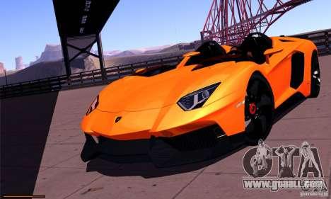 Lamborghini Aventador J for GTA San Andreas back view