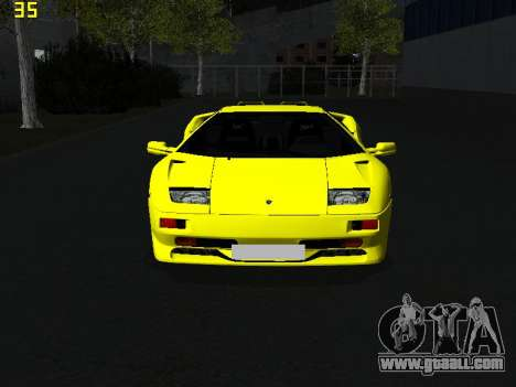 Lamborghini Diablo SV for GTA San Andreas right view