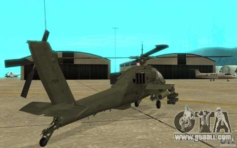 AH-64 Apache for GTA San Andreas right view