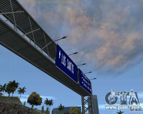 Road signs v1.1 for GTA San Andreas second screenshot