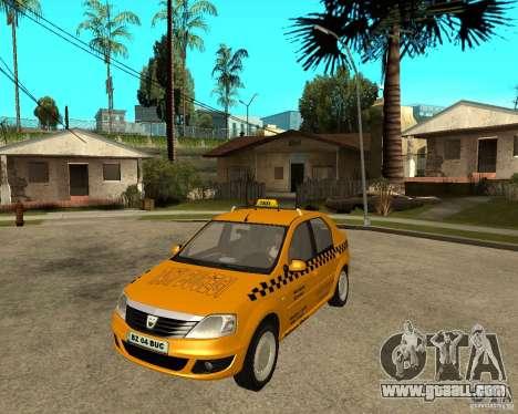 Dacia Logan Taxi Bucegi for GTA San Andreas