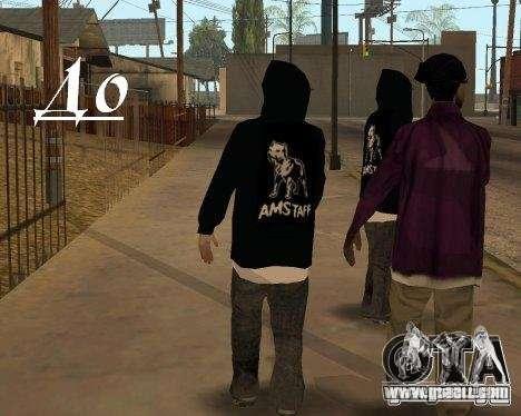 Clothing with Victor Coem for GTA San Andreas third screenshot