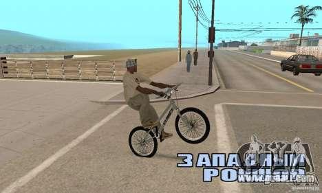 CS bikes BMX for GTA San Andreas right view