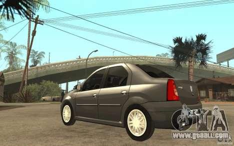 Dacia Logan Prestige 1.6 16v for GTA San Andreas back left view