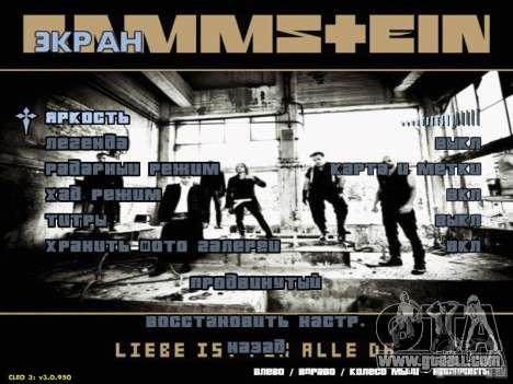 Rammstein Menu for GTA San Andreas third screenshot