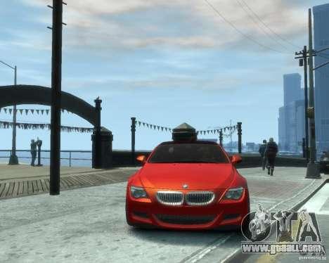 BMW M6 2010 v1.1 for GTA 4 back view
