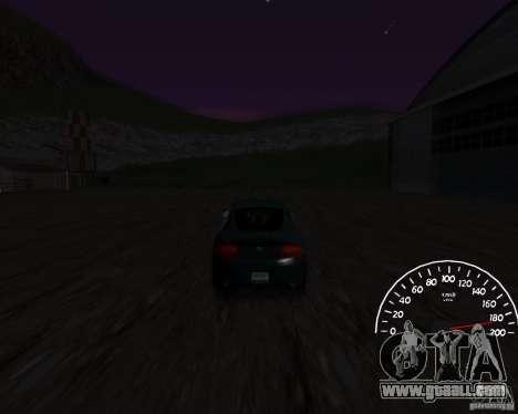 Speedometer 0.5 beta for GTA San Andreas second screenshot