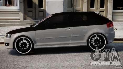 Audi S3 for GTA 4 back left view