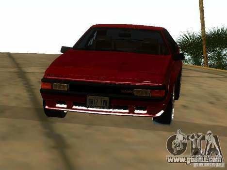 Toyota Celica Supra for GTA San Andreas inner view