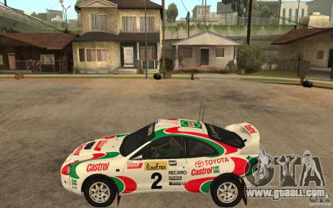 Toyota Celica GT4 DiRT for GTA San Andreas left view