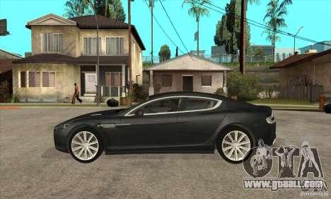Aston Martin Rapide 2010 for GTA San Andreas left view