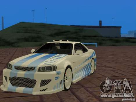 Nissan Skyline GT-R R34 Tunable for GTA San Andreas side view