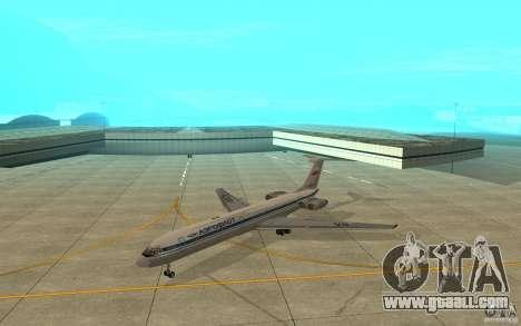 Aeroflot Il-62 m for GTA San Andreas left view