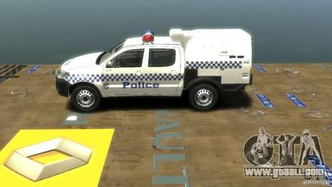 Toyota Hilux Australian Police ELS for GTA 4 back view