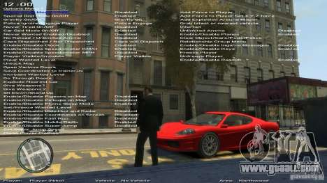 Simple Trainer Version 6.3 for 1.0.1.0-1.0.0.4 for GTA 4 sixth screenshot