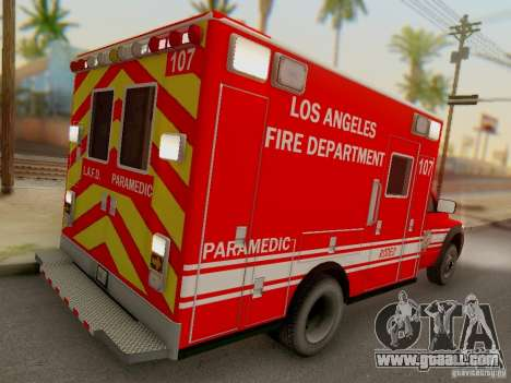 Dodge Ram 1500 LAFD Paramedic for GTA San Andreas right view