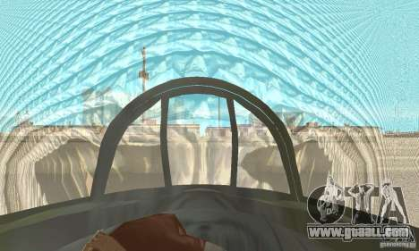 De-Havilland-Vampire ver 2.0 for GTA San Andreas back view