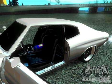 Chevrolet Chevelle SS Domenic from FnF 4 for GTA San Andreas back left view