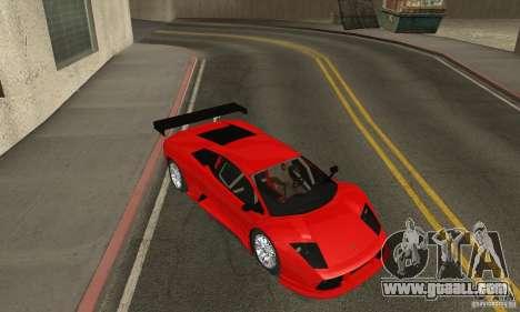 Lamborghini Murcielago R GT for GTA San Andreas inner view