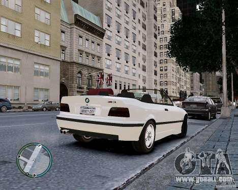 BMW M3 e36 1997 Cabriolet for GTA 4 inner view