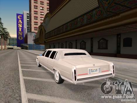 Cadillac Fleetwood Limousine 1985 for GTA San Andreas back left view