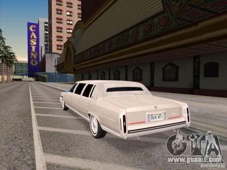 Cadillac Fleetwood Limousine 1985 for GTA San Andreas