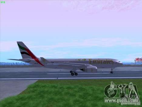Airbus A330-200 Emirates for GTA San Andreas left view