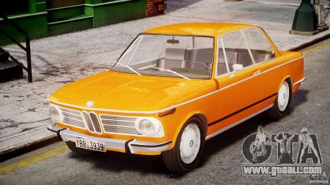 BMW 2002 1972 for GTA 4 left view