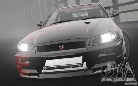 Nissan Skyline R34 Evil Empire for GTA 4 left view