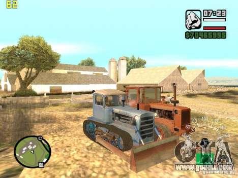 Bulldozer of DT-75 Kazakhstan for GTA San Andreas right view