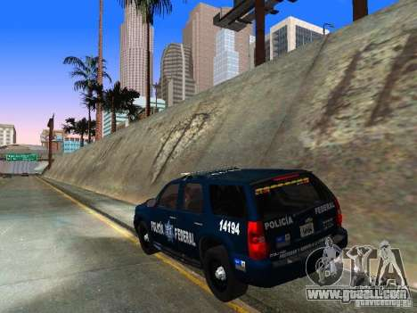 Chevrolet Tahoe 2008 Police Federal for GTA San Andreas back left view