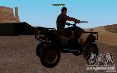 Quadbike from BF 3 for GTA San Andreas back left view