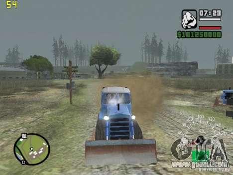Bulldozer of DT-75 Kazakhstan for GTA San Andreas back view
