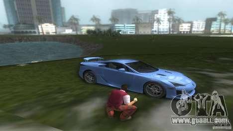 Lexus LFA for GTA Vice City right view