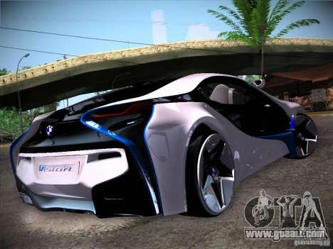 BMW Vision Efficient Dynamics I8 for GTA San Andreas back left view