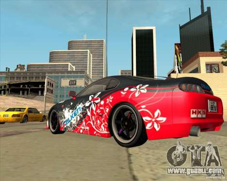 Toyota Supra by Cyborg ProductionS for GTA San Andreas back left view