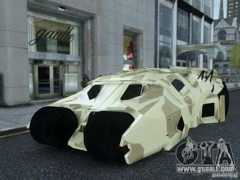 HQ Batman Tumbler for GTA 4
