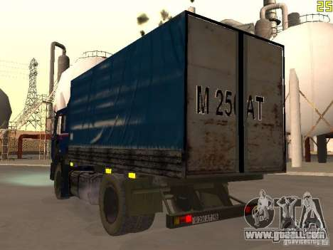 MAZ 533632 for GTA San Andreas back left view