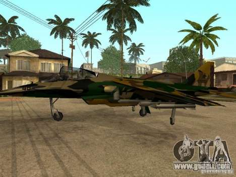 Camouflage for Hydra for GTA San Andreas right view
