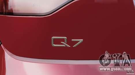 Audi Q7 V12 TDI v1.1 for GTA 4 interior