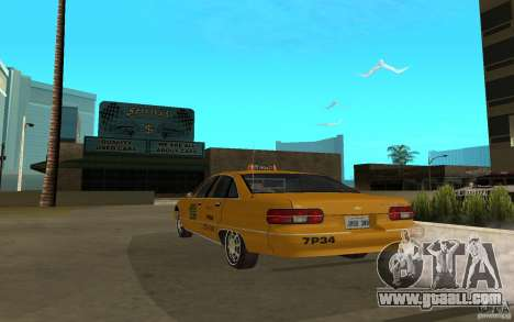 Chevrolet Caprice taxi for GTA San Andreas left view