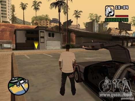 Crysis Delorean BTTF1 for GTA San Andreas right view