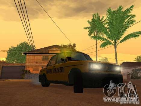 VAZ 2106 tuning Taxi for GTA San Andreas back left view
